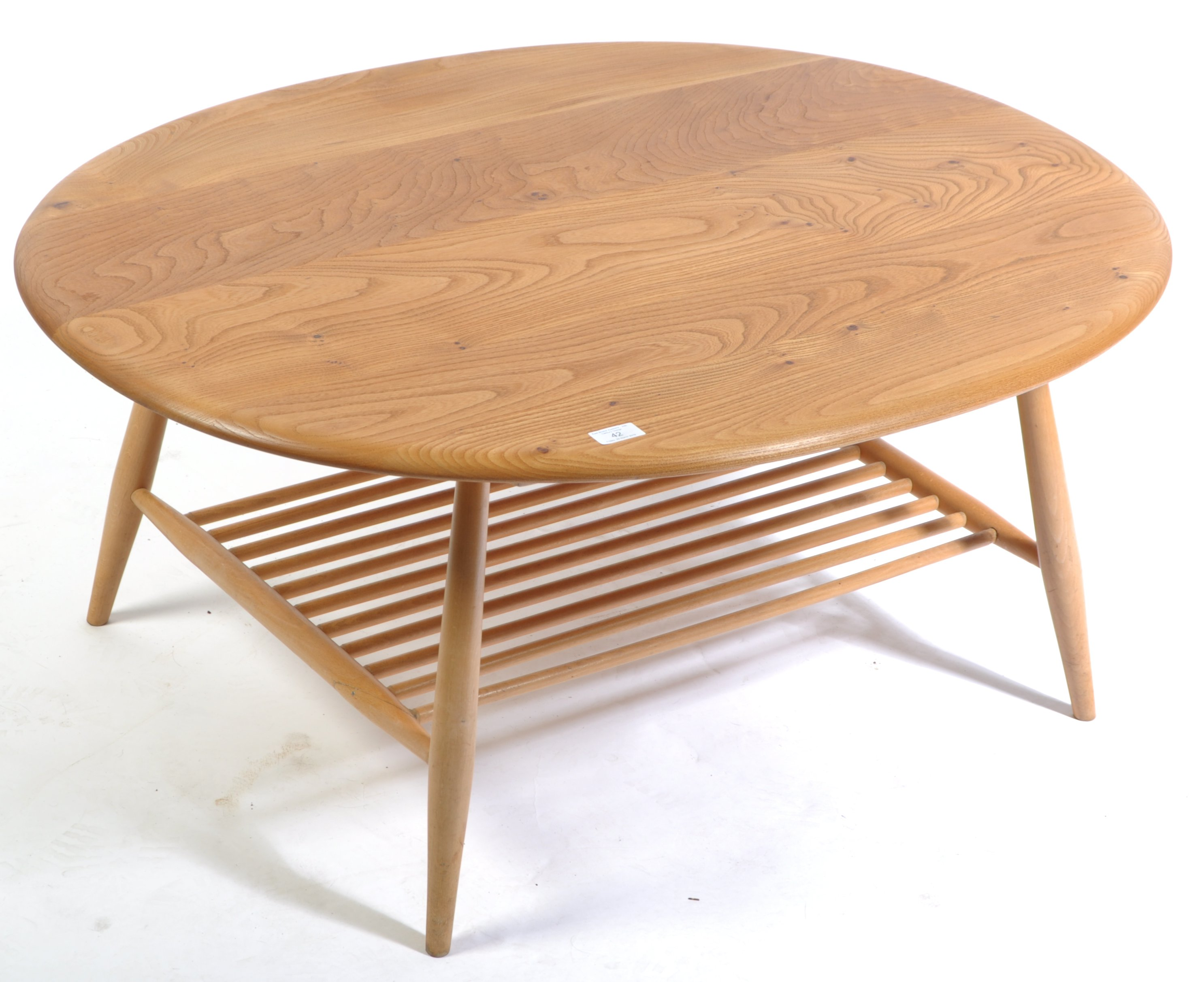 Lot 42 - ERCOL WINDSOR 454 BEECH AND ELM COFFEE TABLE BY LUCIAN ERCOLANI