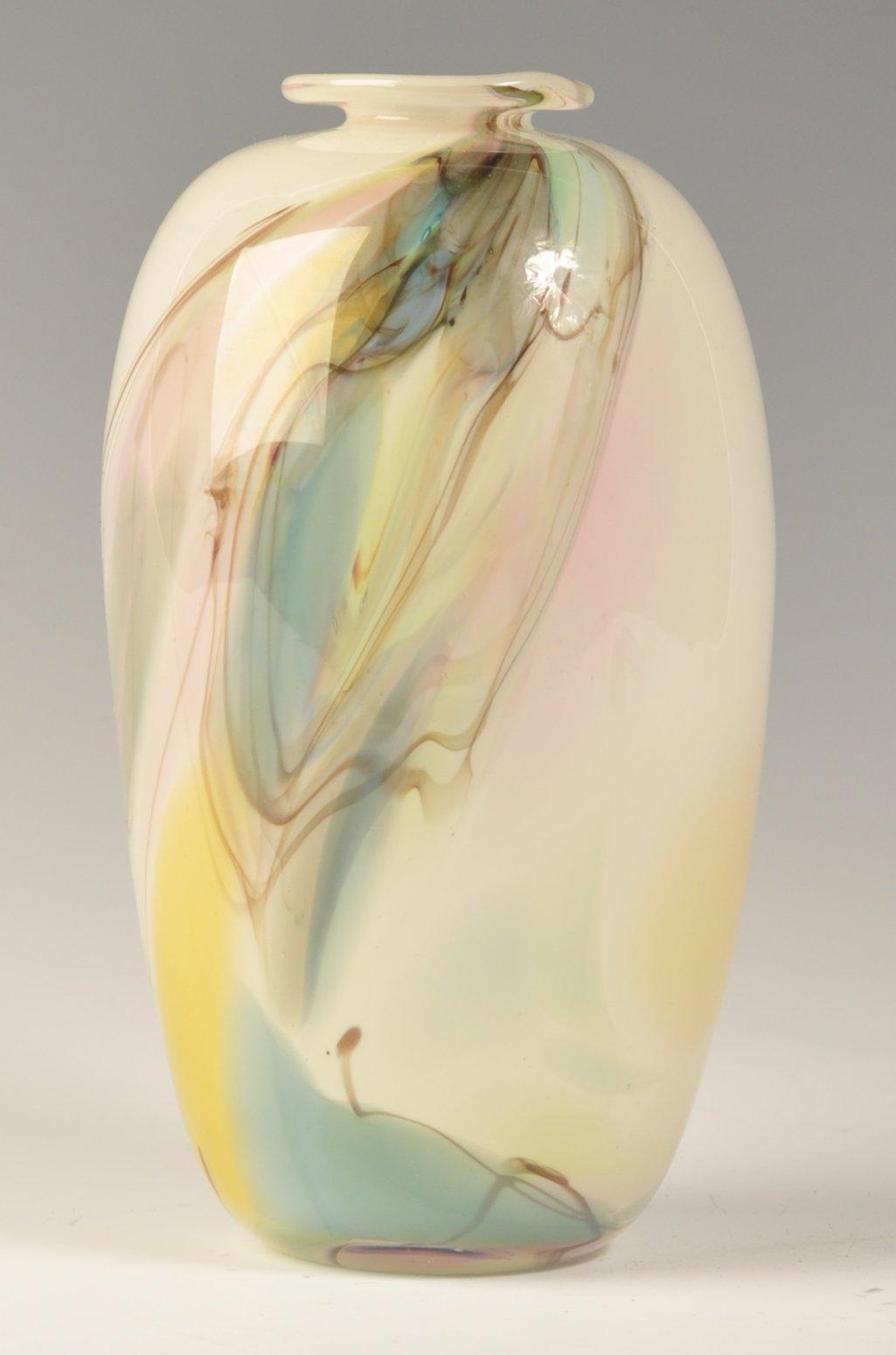 Lot 16 - WILLIAM WALKER RETRO VINTAGE STUDIO ART GLASS VASE