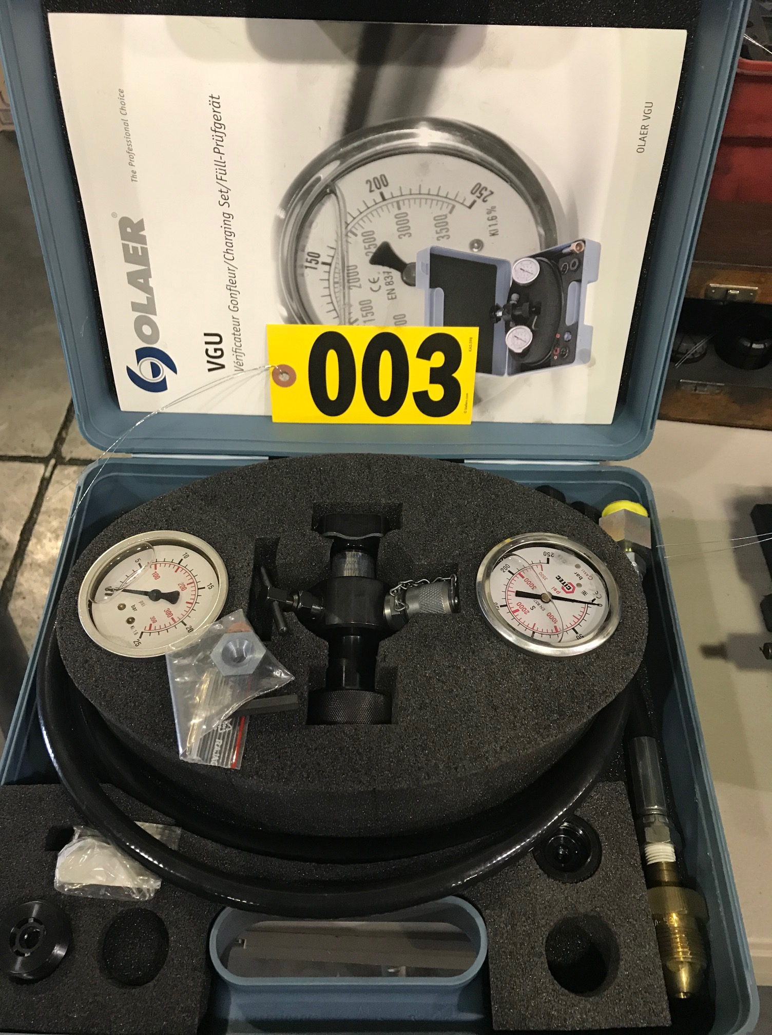German olaer pressure gauge kit