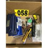 Drill bits, gauges, 3 radius gauges