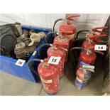Quantity of fire extinguishers. *