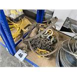 Various chain brothers, wire hawsers and pulleys etc. *