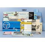 Konv. 20 alte original Ford Autoprospekte, Falt- und Werbeblätter, dabei Ford Extra Magazin, Ford