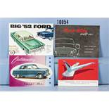 "Konv. 4 original alte Ford Prospekte USA, ""Big '52 Ford"", ""Ford-Köln stellt vor: Régence -"