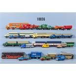Konv. über 50 H0 Modellfahrzeuge, dabei Lkw, Transporter, Sattelzüge, Lastzüge, Pkw,