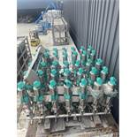 Sanitary Tri-Clover 3 Inch Air Actuated Mix Proof Valve Manifold Cluster Model 965