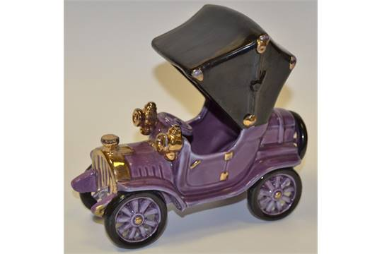 A Bretby Novelty Model Of An Early Th Century Motor Car Purple - Cool cars bretby