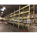 """5 BAY OF 16""""H X 96""""W X 42""""D SPEEDRACK WITH 3 LEVEL OF BEAM COLOR YELLOW"""