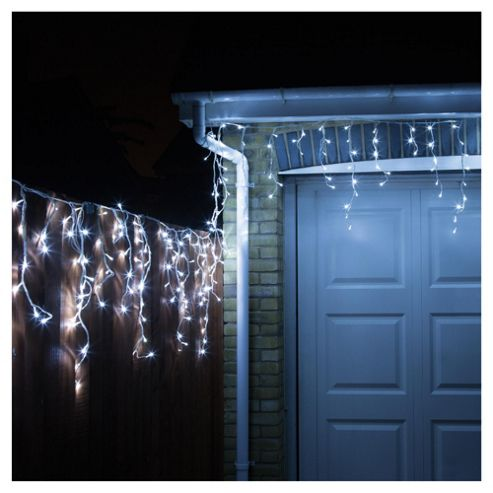 Lot 52574 - V Brand New 480 Snowing Icicle White/Blue LED Lights With 8 Functions And Continuous Snowing
