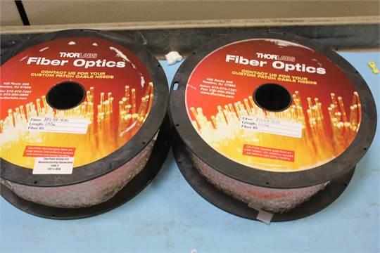 2 NEW REELS OF 100m THORLABS FIBER OPTIC CABLE  PN: BFL48-400