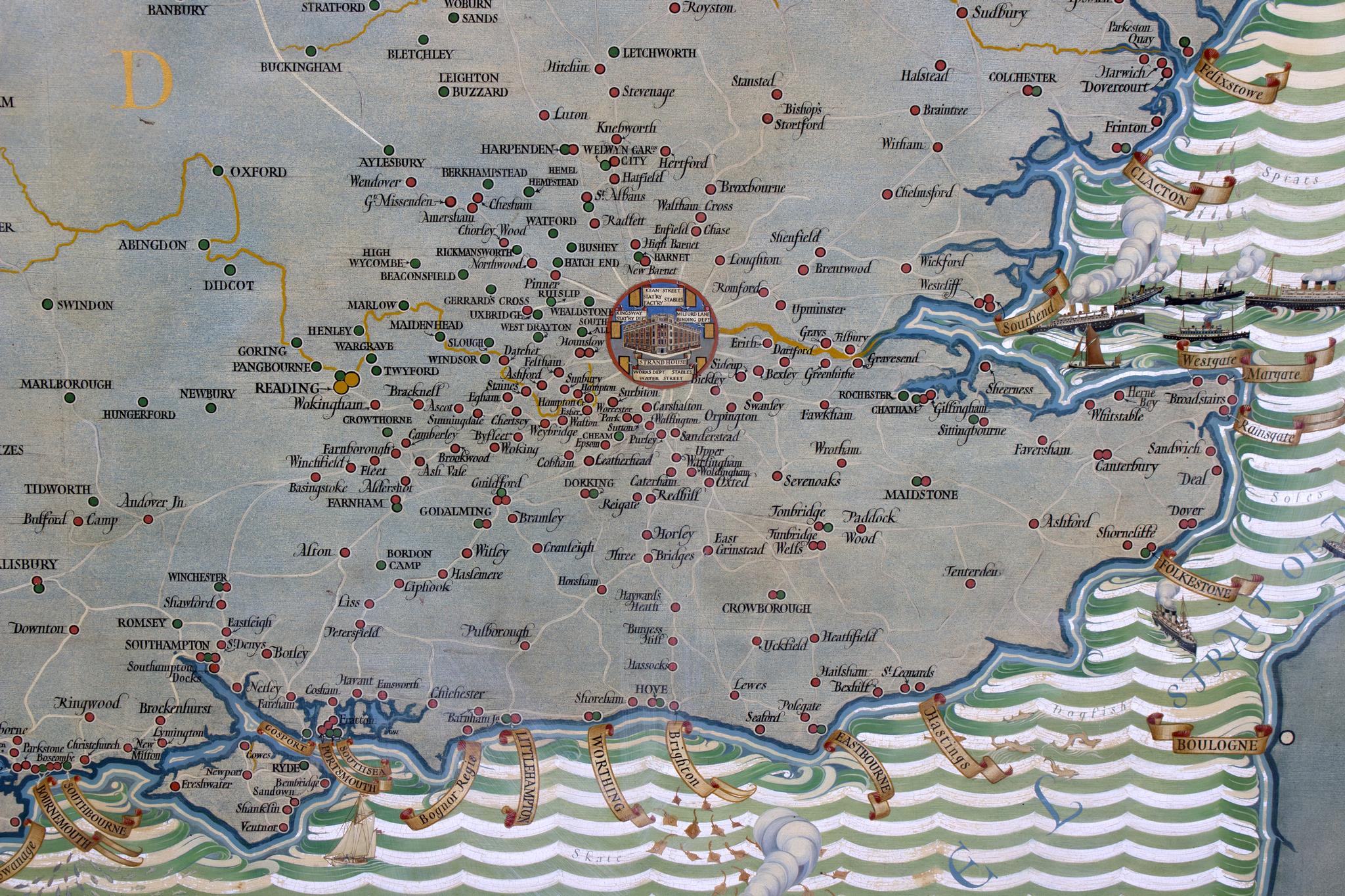 Lot 149 - MacDonald Gill (British 1884-1947)/A Map of England,