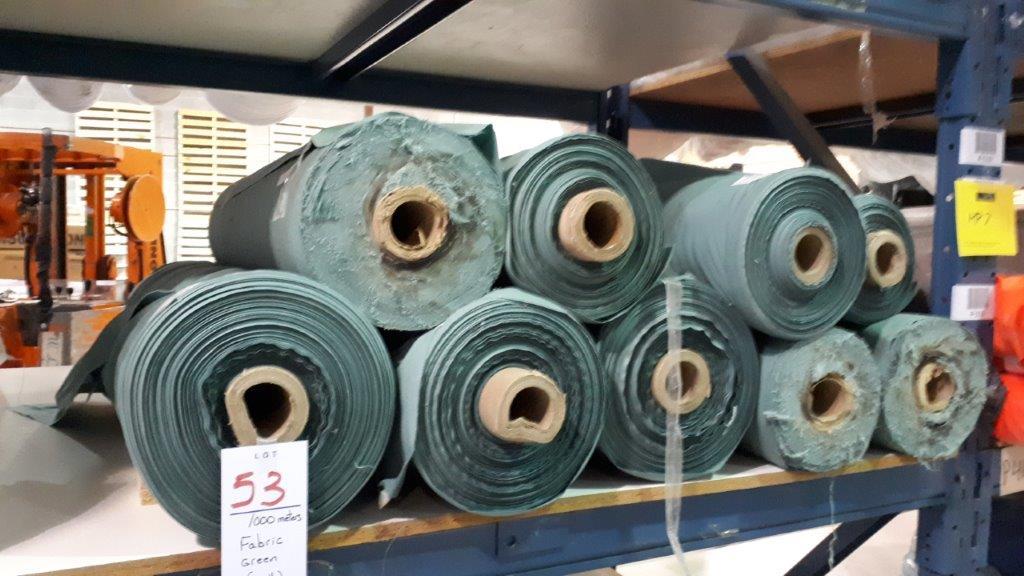 Lot 53 - Fabric green (9 rolls)