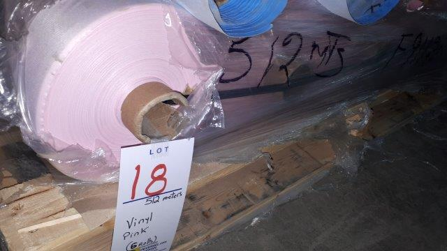 Lot 18 - Vinyl pink (6 rolls)