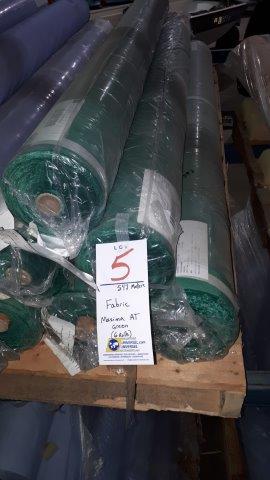 Lot 5 - Fabric Maxima AT Green (6 rolls)