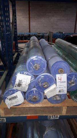 Lot 4 - Fabric AT Maxima Blue (8 rolls)