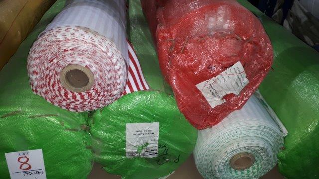 Lot 8 - Flannel striped asst'd (6 rolls)
