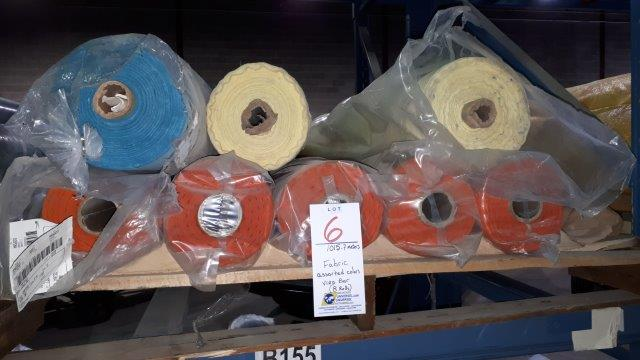 Lot 6 - Fabric assorted colors Viro Bar (8 rolls)