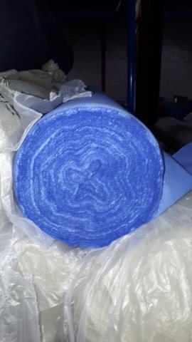 Lot 10 - Fabric light blue Poplin (5 rolls)
