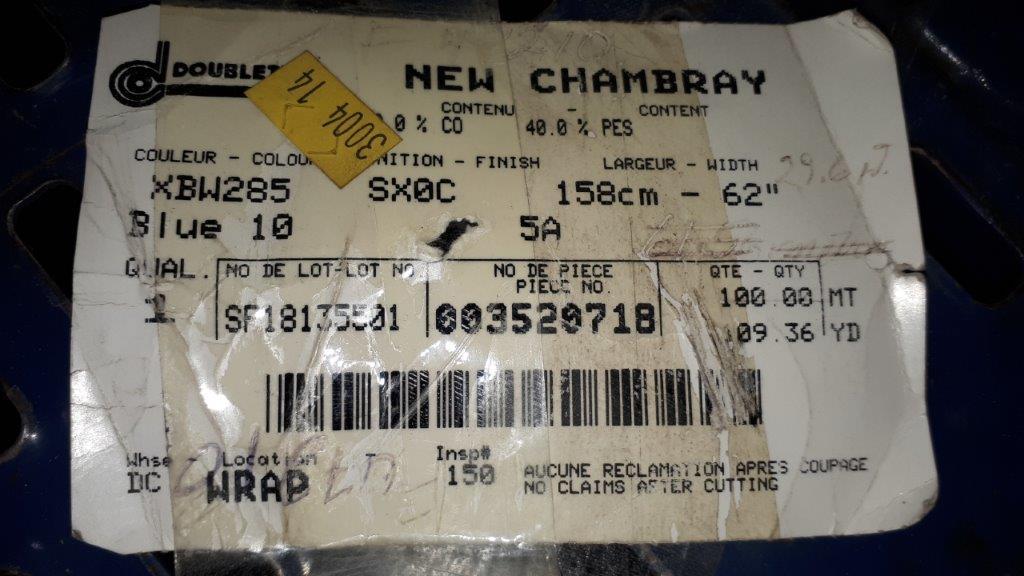 Lot 47 - Fabric new chambray (4 rolls)