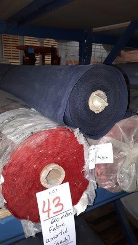 Lot 43 - Fabric assorted (5 rolls)