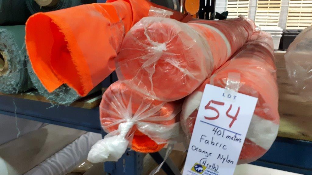 Lot 54 - Fabric orange nylon (4 rolls)