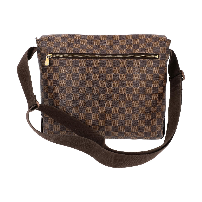 """LOUIS VUITTON Messenger Bag, """"BROOKLYN MM"""", Koll. 2010.Damier Ebene Serie mit textilem - Bild 4 aus 8"""