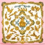 """HERMÈS Seidencarré """"LES PARURES DU VENT"""".Designed by Joachim Metz, Motiv erstmals 1991 erschienen."""
