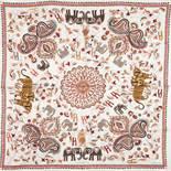 """HERMÈS Seidencarré """"CARRÉ KANTHA"""",inspiriert von traditionellen, indischen Mustern, Entwurf von"""