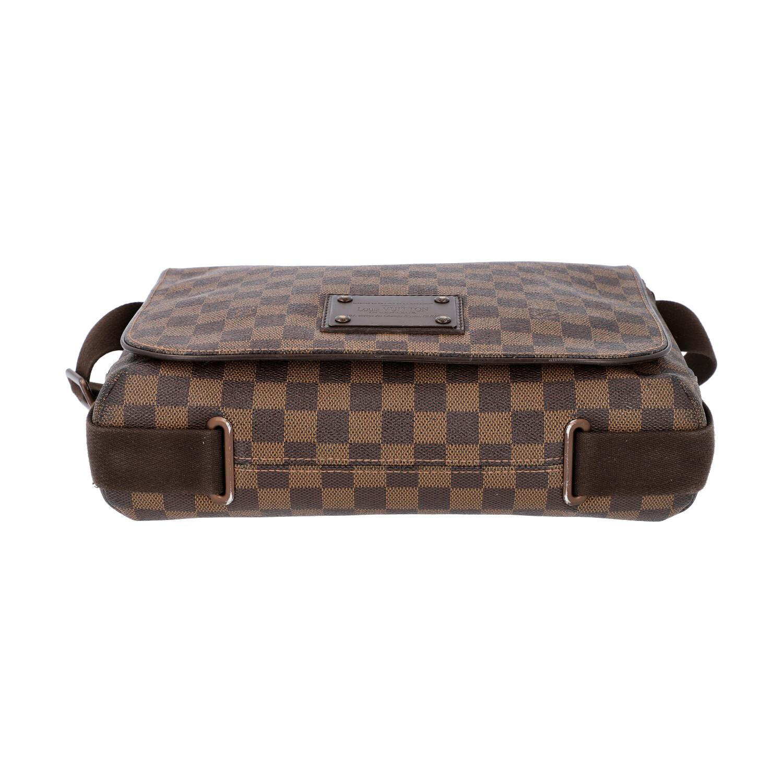 """LOUIS VUITTON Messenger Bag, """"BROOKLYN MM"""", Koll. 2010.Damier Ebene Serie mit textilem - Bild 5 aus 8"""