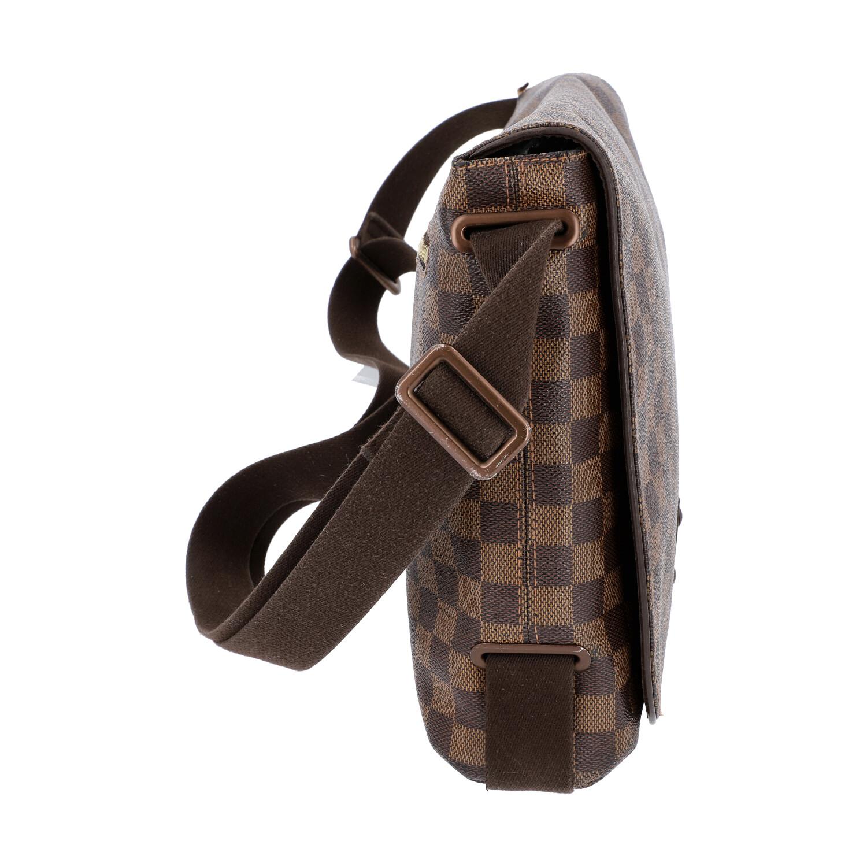 """LOUIS VUITTON Messenger Bag, """"BROOKLYN MM"""", Koll. 2010.Damier Ebene Serie mit textilem - Bild 3 aus 8"""