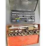 (2) Ratchet and Socket Sets