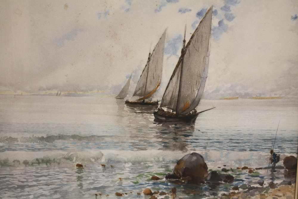 BALDOMERO GALOFREY GIMENEZ (1849-1902). Spanish school, pair of Neapolitan coastal scenes with - Image 2 of 6