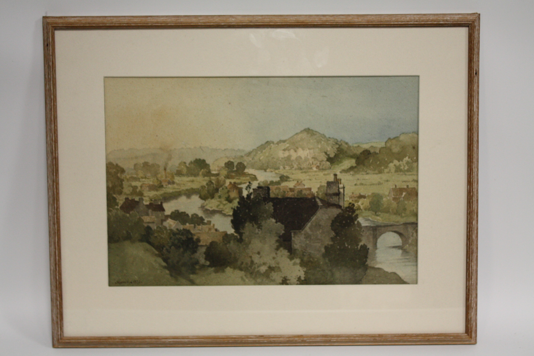 Lot 81 - BETRAM NICHOLLS (1883-1974). 'Bridgnorth' see label verso, signed and dated 1952 lower left,