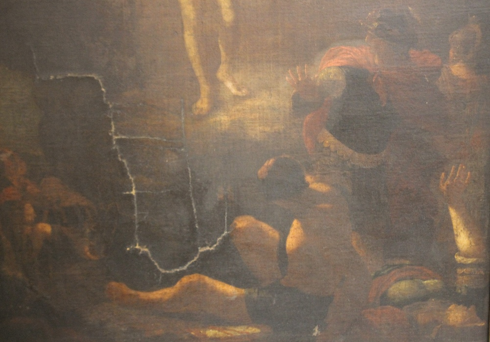 Lot 177 - FOLLOWER OF SEBASTIAN BOURDON (1616-1671). Study of Christ 'The Resurrection', unsigned, oil on
