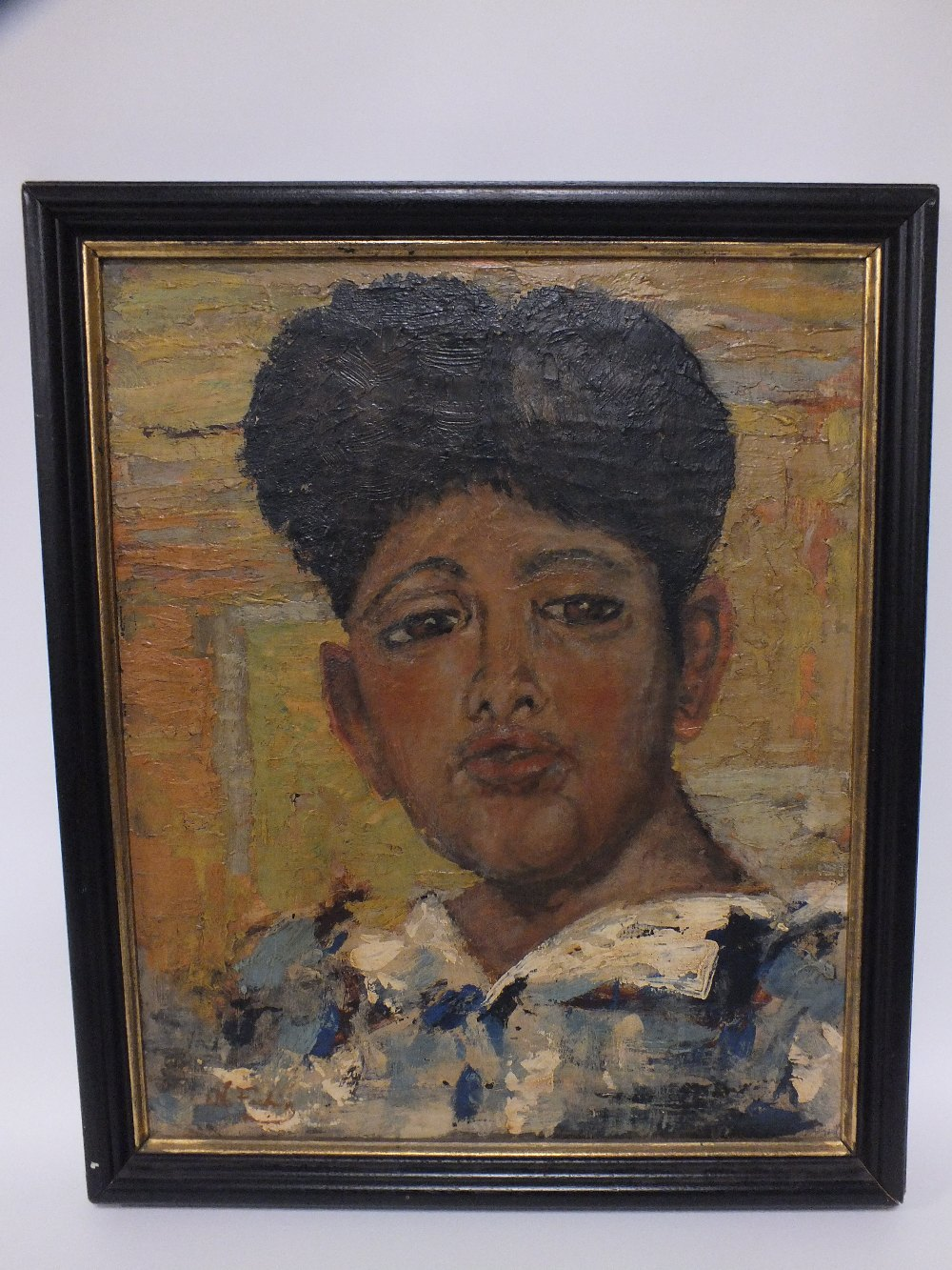 Lot 141 - CIRCLE OF NICOLAI IVANOVICH FECHIN (1881-1955). A head and shoulder portrait study of an Eastern