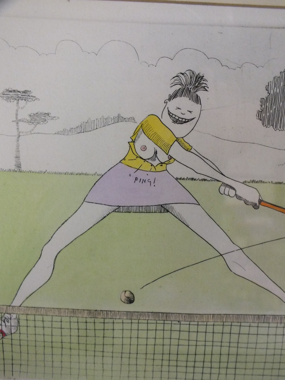 Lot 43 - TIM BULMER. Two comical sporting studies 'A Damn Fine Set', signed in pencil lower right, limited