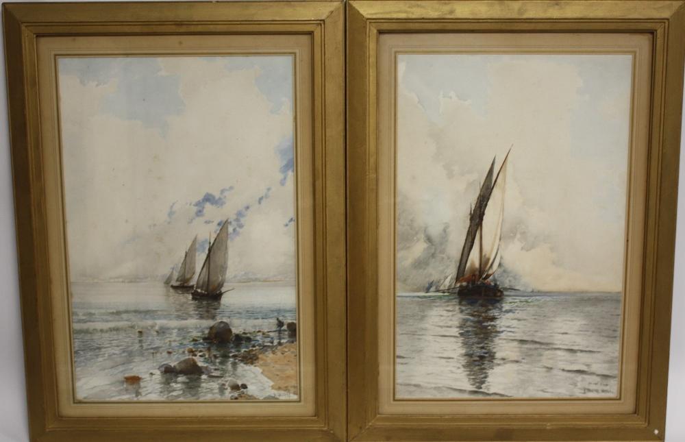 BALDOMERO GALOFREY GIMENEZ (1849-1902). Spanish school, pair of Neapolitan coastal scenes with