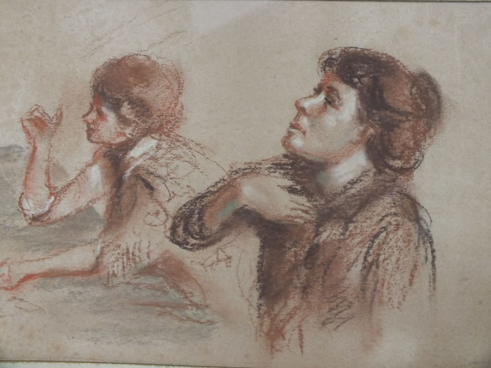 Lot 59 - AFTER EDGAR DEGAS (1834 - 1917). A study of ballet dancers and a study of two young women at a