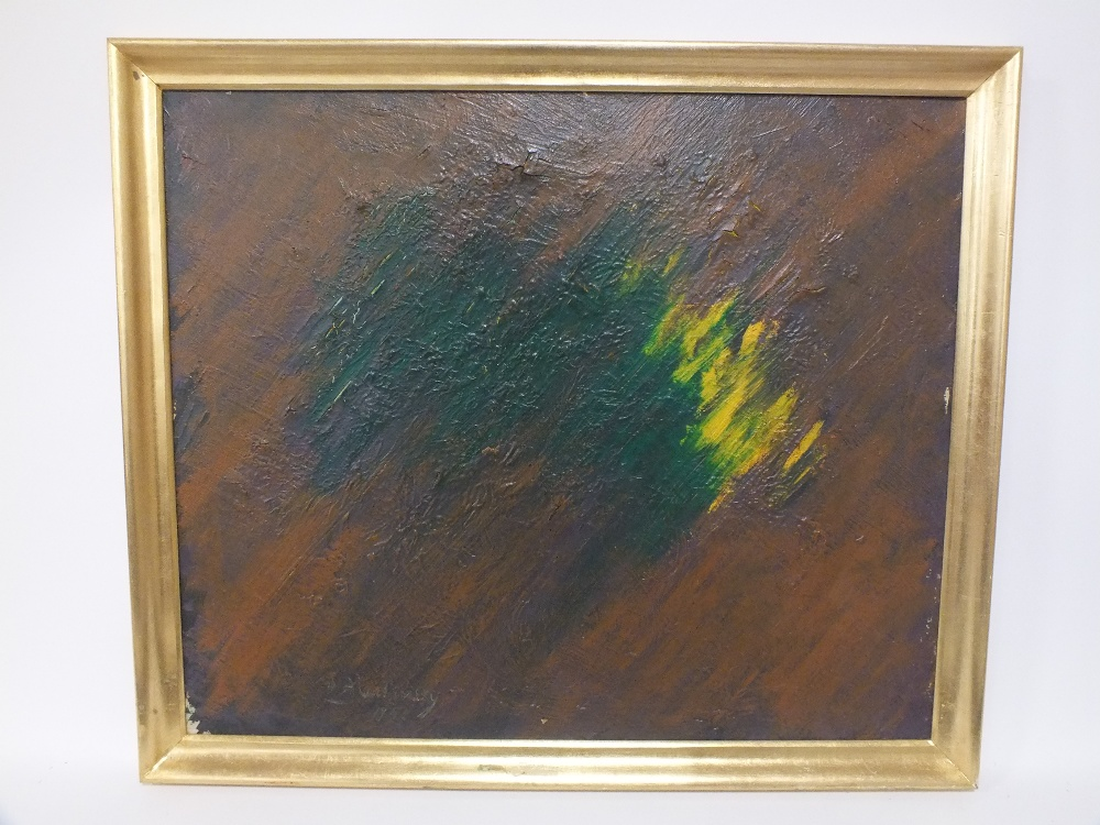 Lot 151 - L.A. ???INSKY (XX). Abstract composition, bears signature and date 1957, lower left, oil on
