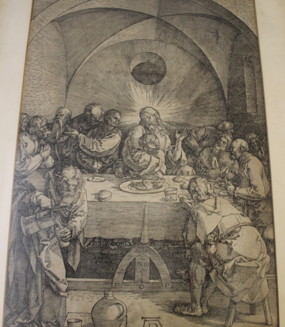 AFTER ALBRECHT DURER (1471-1528). German school, 19th century religious interior scene with Jesus