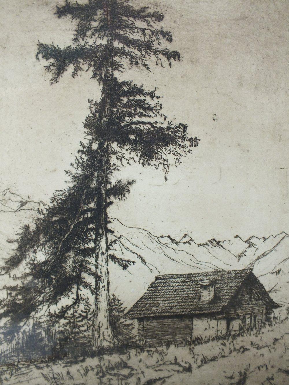 Lot 26 - HENRIETTA JOHANNA REUCHLIN-LUCARDIE (1877-1970). Dutch school, a figure and hut in Montana, see