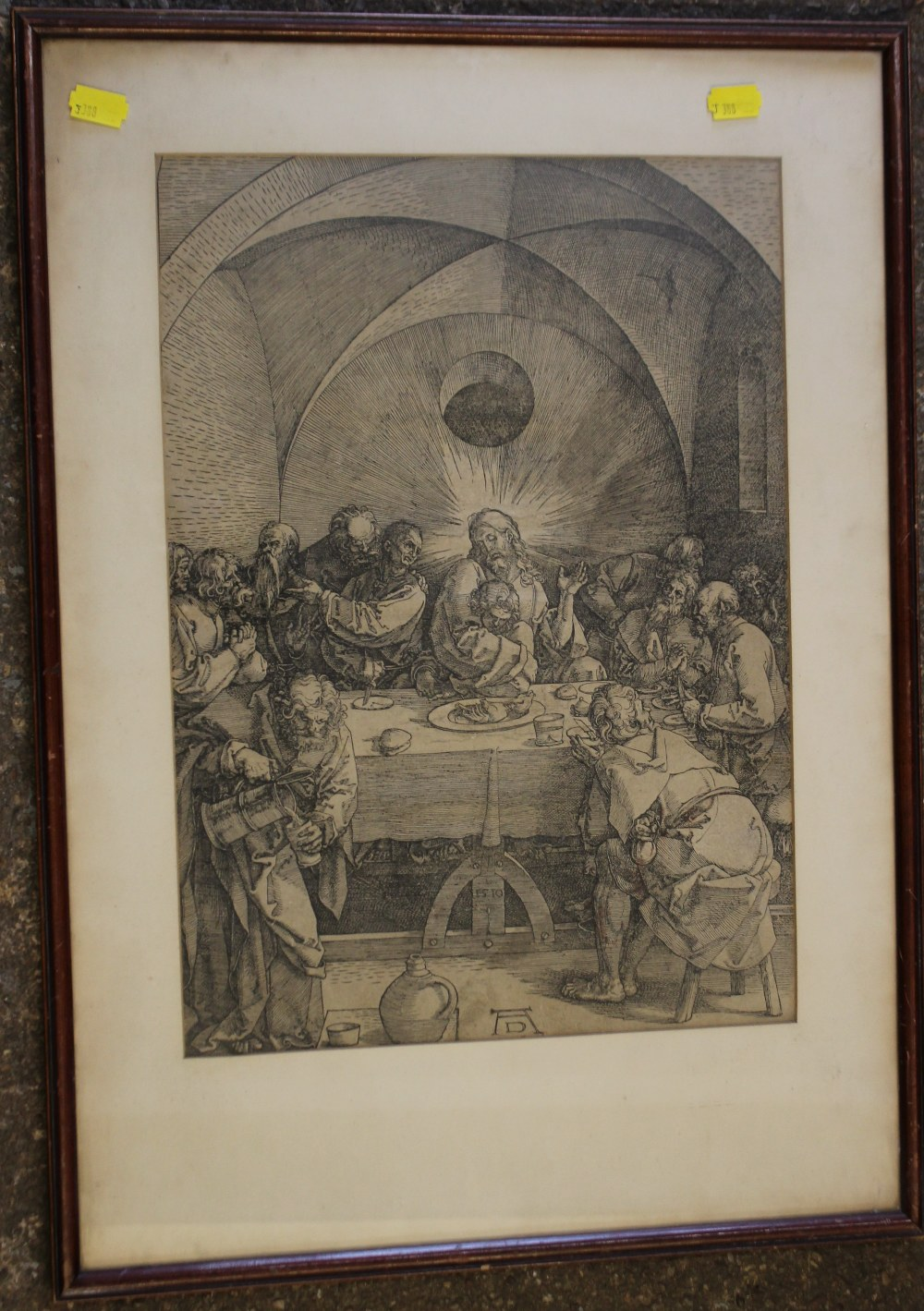 Lot 66 - AFTER ALBRECHT DURER (1471-1528). German school, 19th century religious interior scene with Jesus