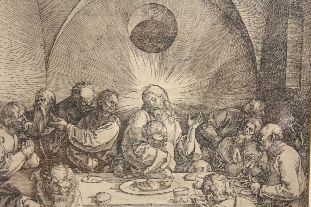 AFTER ALBRECHT DURER (1471-1528). German school, 19th century religious interior scene with Jesus - Image 2 of 3