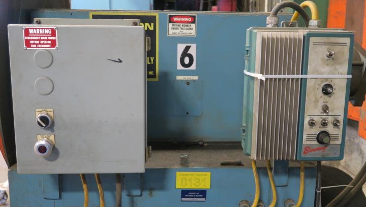 "Lot 3 - POWERED COIL REEL, AIR FEEDS 10,000 LB. CAP. MDL. R100, 24"" max. material width, hyd. mandrel"