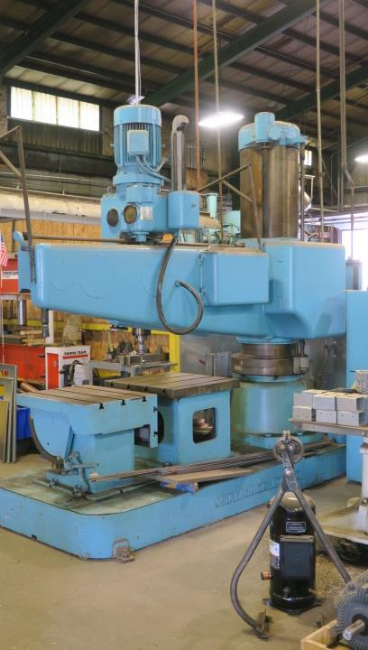 "Lot 5 - RADIAL ARM DRILL, OOYA 6' X 17"" MDL. RE3-2000, spds: 20-2180 RPM, pwr. clamping & elevation, 29"" x"