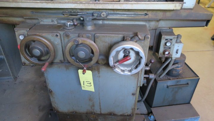 "Lot 13 - HYDRAULIC SURFACE GRINDER, BROWN & SHARPE 6"" X 18"" MICROMASTER, fine downfeed handle, hyd. long. &"