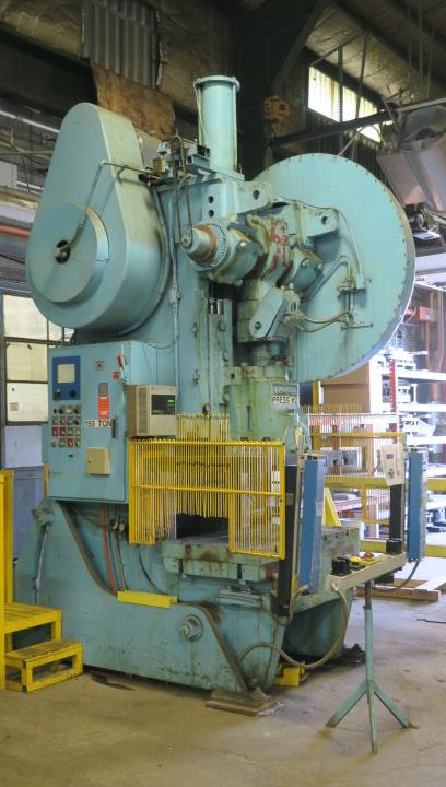 "Lot 4 - OBI BACKGEARED PRESS, NIAGARA 150 T. CAP. MDL. AF-6-1/2, 6"" stroke, 22-1/2"" shut ht., 6"" adj., 50"" x"