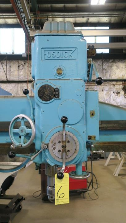 """RADIAL ARM DRILL, FOSDICK 4' SENSITIVE TYPE, spds: 50-2000 RPM, #4 MT spdl., 24-1/2"""" x 48"""" pwr. - Image 2 of 5"""