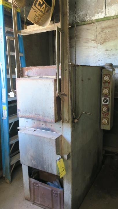 "Lot 12 - HEAT TREAT FURNACE, LUCIFER MDL. HDL8012R, interior dims: 12""W. x 12"" ht. x 24"" dp., 2,300 deg. ma.x"