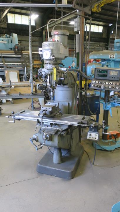 "VERTICAL MILLING MACHINE, BRIDGEPORT MDL. 2J, 9"" x 42"" table, variable spd. head, spds: 60-4200 RPM, - Image 2 of 4"